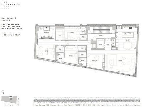 152 Elizabeth Street #4 floor plan