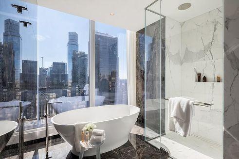Central Park Tower bath