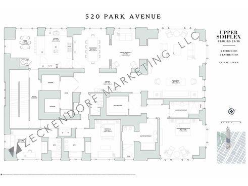 520 Park Avenue floor plan