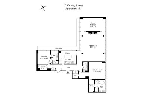 42 crosby street floor plan