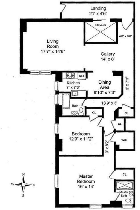 550 Park Avenue #16C floor plan