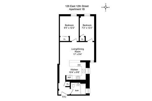 126 East 12th Street #1B floor plan