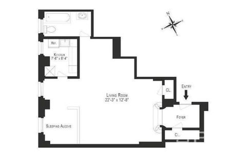 235 East 73rd Street #1G floor plan
