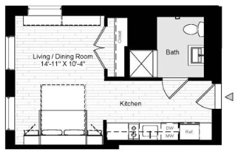 280 Ashland Place floor plan