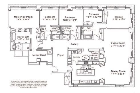 212 Fifth Avenue #15AA floor plan