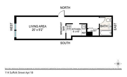 114 Suffolk Street #1B floor plan