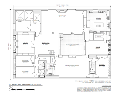 165 Perry Street #PENTHOUSE floor plans