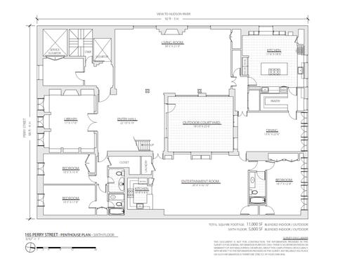165 Perry Street #PENTHOUSE floor plans