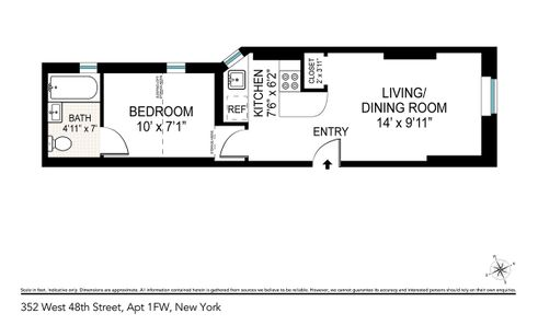 352 West 48th Street #1FW floor plan
