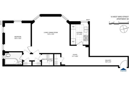 10 West 93rd Street #3D floor plan