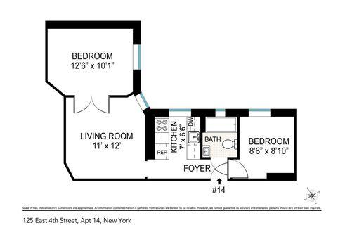 125 East 4th Street #14 floor plan