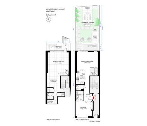 207a Prospect Avenue #GARDEN floor plan