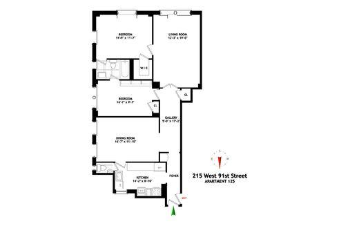 215 West 91st Street #125 floor plan