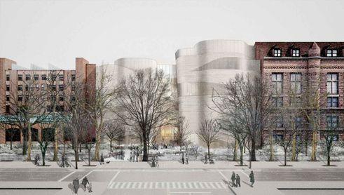 Gilder center expansion exterior