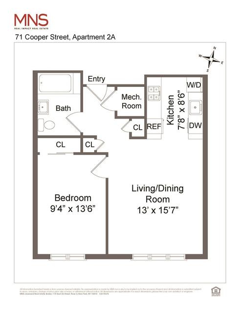 71 Cooper Street #2A floor plan