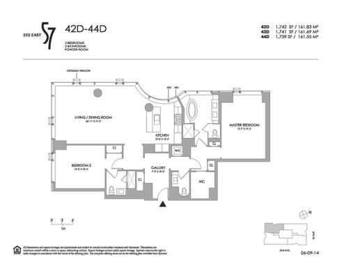 252 East 57th Street #42D floor plan