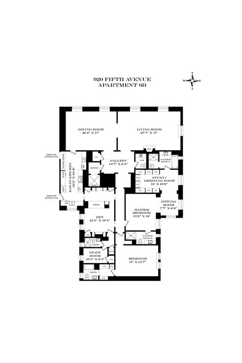920 Fifth Avenue #6B floor plan
