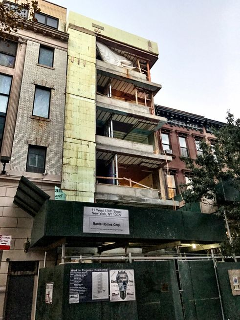 11 West 126th Street Construction
