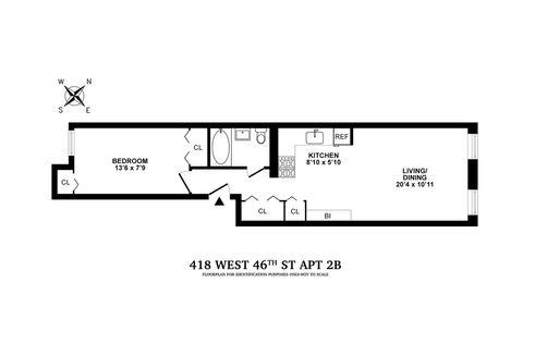 418 West 46th Street #2B floor plan