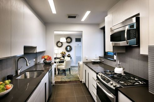 AIRE's gourmet kitchens with quartz counters