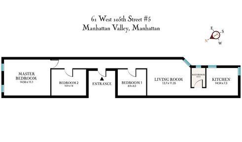 61 West 105th Street #5 floor plan
