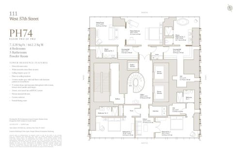 111 West 57th Street #PH74 floor plan
