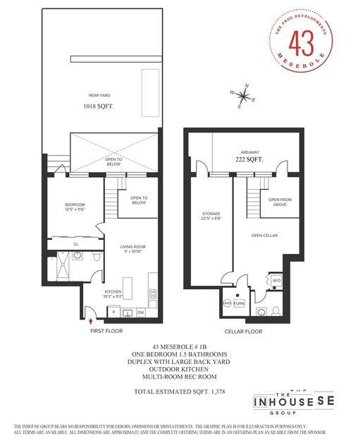 43 Meserole Street #1A floor plan