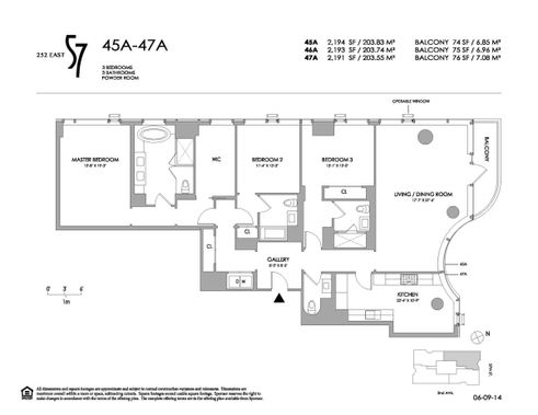 252 East 57th Street #46A floor plan