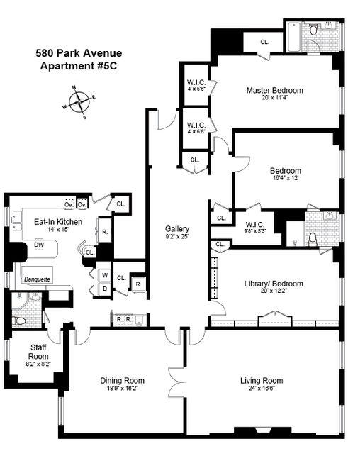 580 Park Avenue #5C floor plan