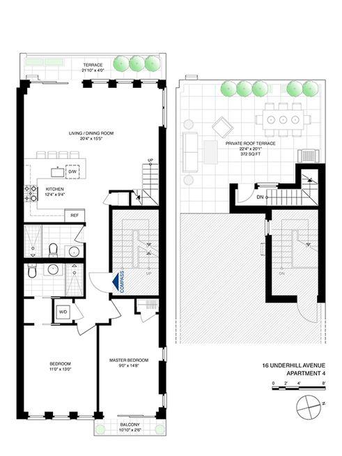 16 Underhill Avenue #4 floor plan