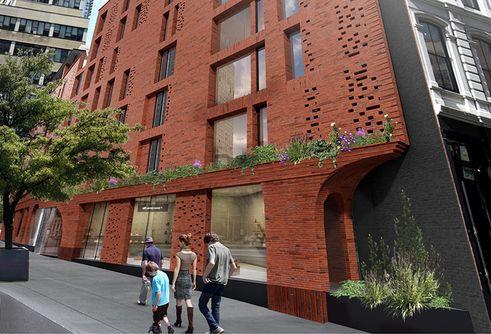 100 Franklin Street exterior rendering