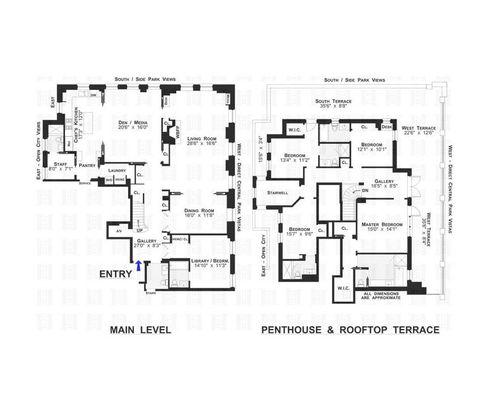 1165 Fifth Avenue #PHA floor plan