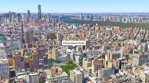 aerial view union square, 8 union square south, union square condos, Greenwich village condos, NYC penthouses