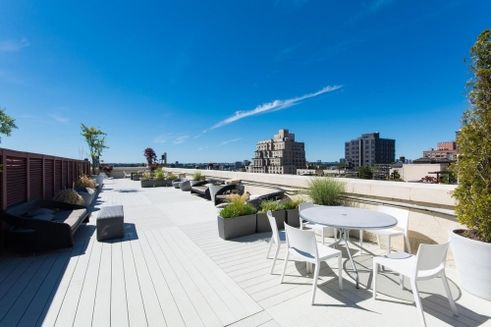 Roof deck lounge areas