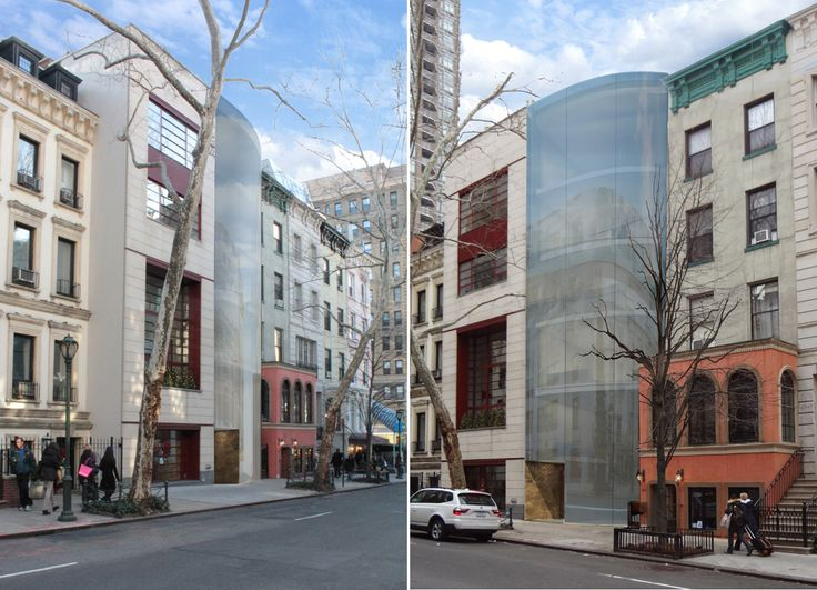 Rendering of Vinoly's glass townhouse, 162 East 64th Street