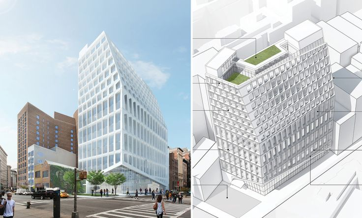 CetraRuddy's concept for office building at 799 Broadway (CetraRuddy Architects)
