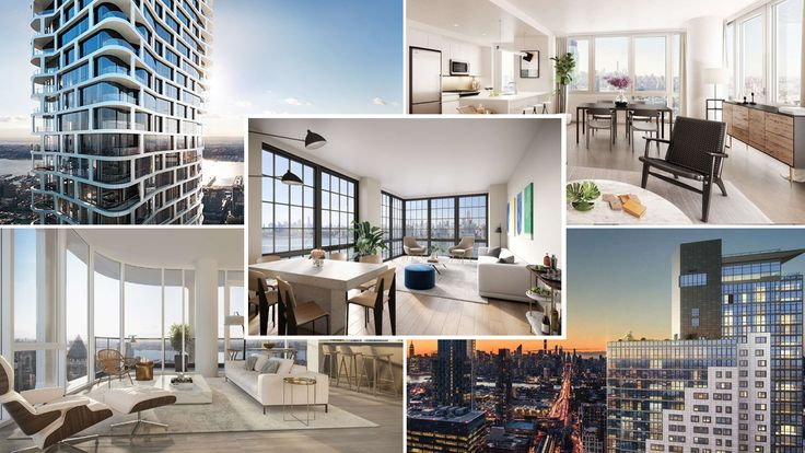 Collage of NYC luxury rental buildings that opened in 2018