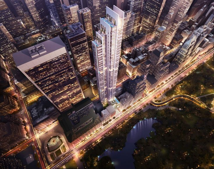 Bird's eye view of Handel Architects vision for the Park Lane Hotel redevelopment (Handel Architects)