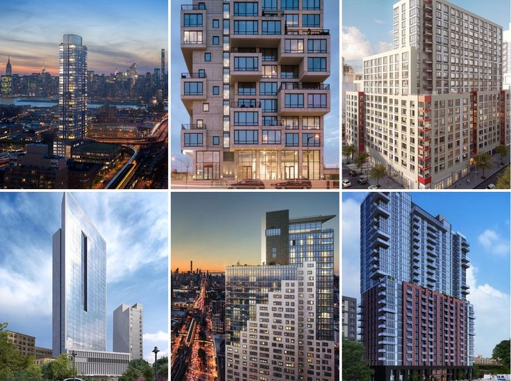 These newly constructed rental buildings offer sky-high views and luxurious amenity packages.