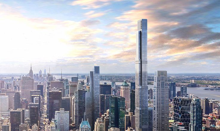 Rendering of Central Park Tower looking south from Central Park; Extell Development