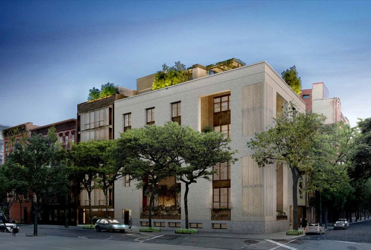 Rendering of the two-building proposal for 145 Perry Street; Source Leroy Street Studio via LPC