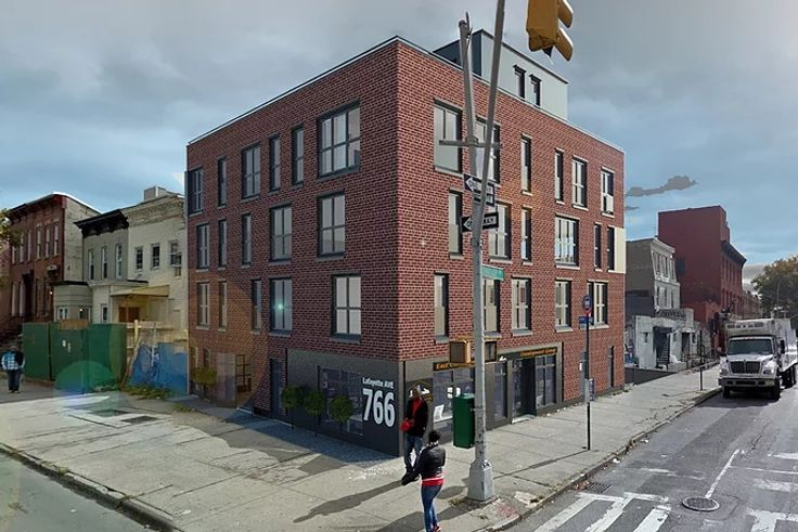 A rendering of the newly opened 766 Lafayette Avenue rental building in Bed-Stuy, Brooklyn (Image via Peretz Architecture)