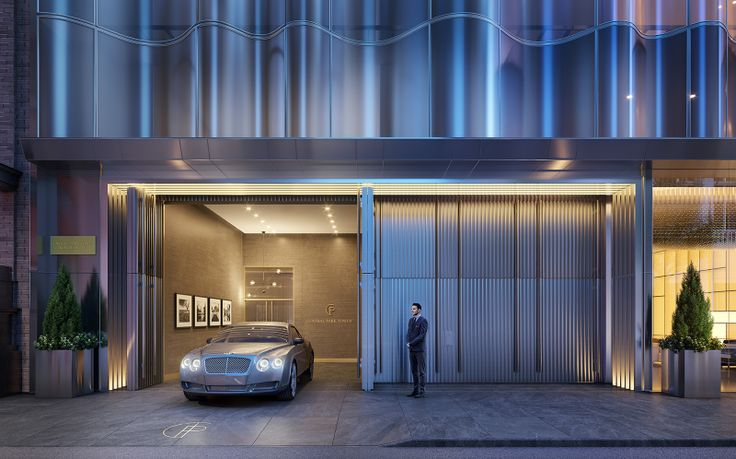 What's old is new again - porte-cocheres, traditionally associated with prewar buildings, have become a key amenity in new luxury buildings (Central Park Tower port-cochere via VUW)