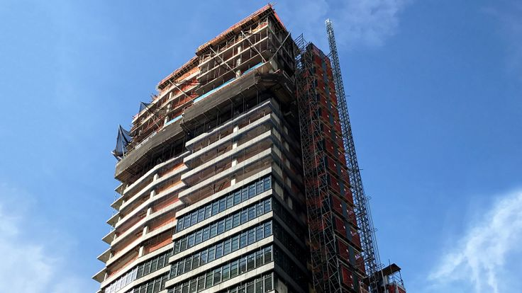 The NOMA has topped out at 24 floors. Construction Photo via CityRealty