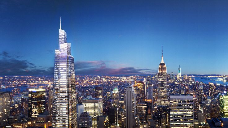 Rendering of One Vanderbilt from Top of the Rock created by VISUALHOUSE