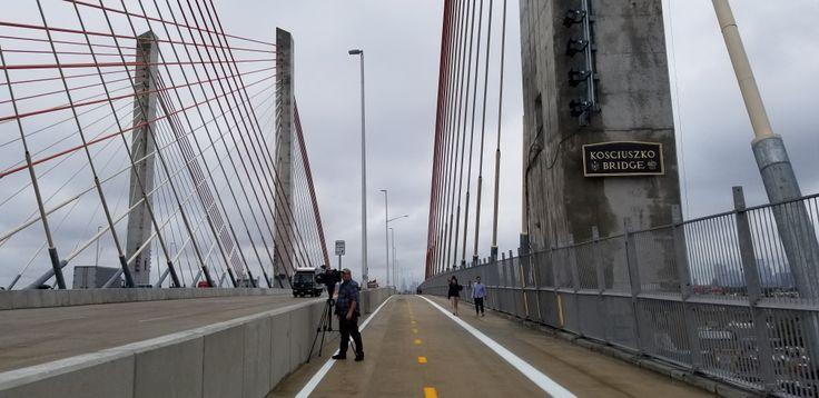 Kosciuszko Bridge, pedestrian, bike path, opening day, Vitali Ogorodnikov
