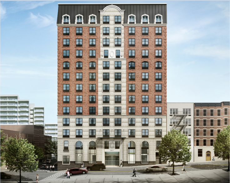 Rendering of 1622 York Avenue (The Engel Burman Group)