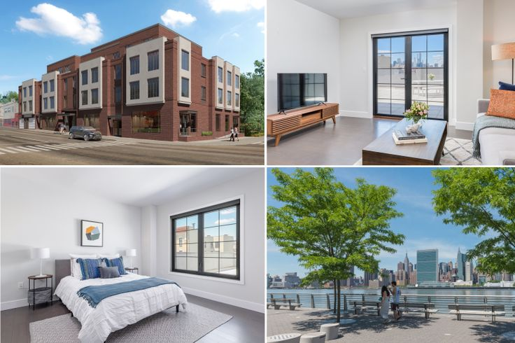 Crescent Iron House in the Dutch Kills section of Long Island City is now renting townhouse-style apartments priced from an attainable $2,300/month  (Photos via Modern Spaces)