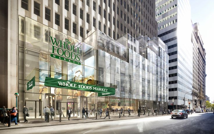 Rendering of Whole Foods Market at One Wall Street, courtesy of DBOX