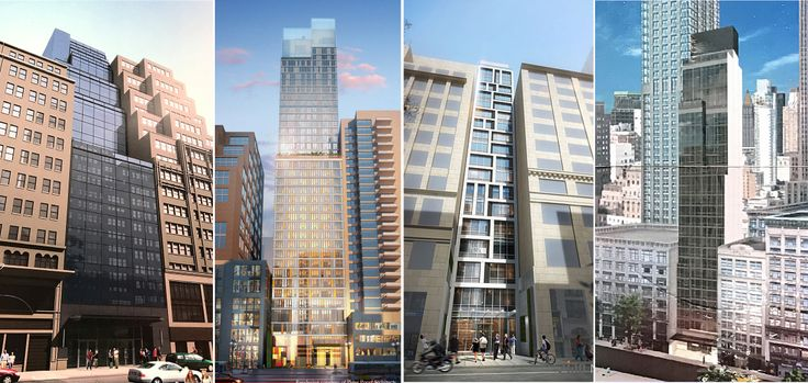 L to R: 44 West 37th, Embassy Suites Hotel, 11 West 37th, and 6 West 37th Street